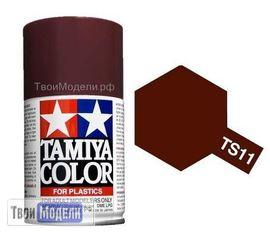 Необходимое для моделей Tamiya 85011 TS-11 Бордовая - краска спрей в баллончиках 100 мл. tm00534 купить в твоимодели.рф