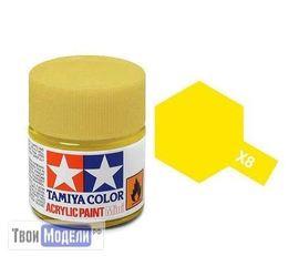 Необходимое для моделей Tamiya 81508 X-8 Лимон-желтая глянцевая (Lemon Yellow) #Краска-acrylic tm00442 купить в твоимодели.рф