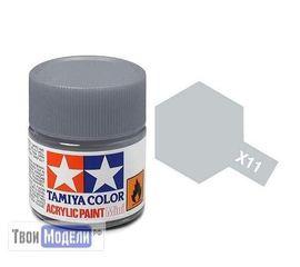 Необходимое для моделей Tamiya 81511 X-11 Хромированное серебро (Chrome Silver) #Краска-acrylic tm00445 купить в твоимодели.рф