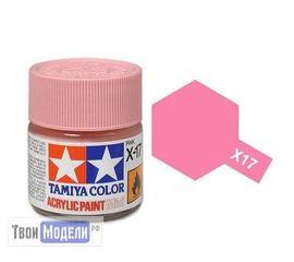 Необходимое для моделей Tamiya 81517 X-17 Pink Розовая глянцевая (Pink) #Краска-acrylic tm00450 купить в твоимодели.рф