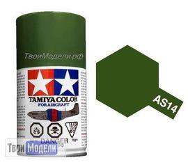Необходимое для моделей Tamiya 86514 AS-14 Оливковый Зелёный - краска спрей в баллончиках 100 мл.  tm00553 купить в твоимодели.рф