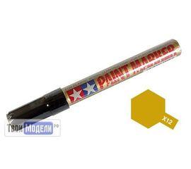 Необходимое для моделей Tamiya 89012 X-12 Маркер глянцевый золото (Gold Leaf) # Краска эмалевая 10мл. tm00554 купить в твоимодели.рф