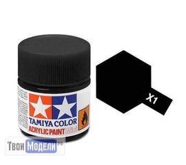 Необходимое для моделей Tamiya 81501 X-1 Черная глянцевая (Black) #Краска-acrylic tm00441 купить в твоимодели.рф