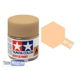 Необходимое для моделей Tamiya 81715 XF-15 Телесная матовая (Flat Flesh) #Краска-acrylic tm00265 купить в твоимодели.рф