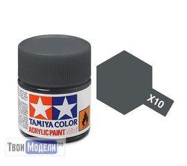 Необходимое для моделей Tamiya 81510 Х-10 Пушечный металл (Gun Metal) #Краска-acrylic tm00435 купить в твоимодели.рф