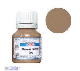 Необходимое для моделей АКАН 79034 Земля коричневая сухая # Краска tm00833 купить в твоимодели.рф