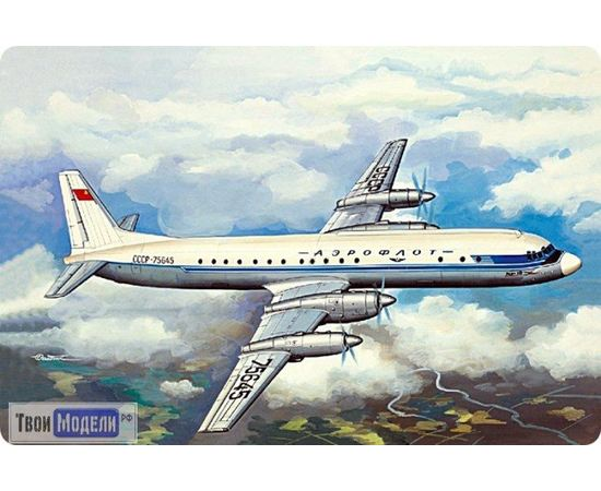 Склеиваемые модели  ЕЕ14464 Ил-18 А/Б Аэрофлот Пассажирский самолет 1:144 tm00352 купить в твоимодели.рф