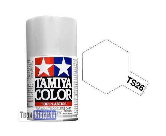 Необходимое для моделей Tamiya 85026 Ts-26 Чисто белая - краска спрей в баллончиках 100 мл. tm00730 купить в твоимодели.рф