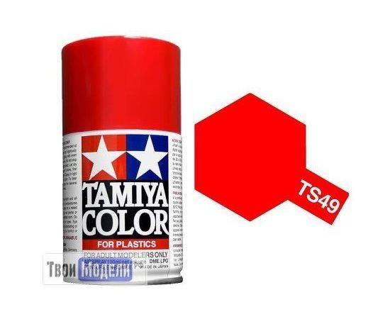 Необходимое для моделей Tamiya 85049 TS-49 Ярко красная, - краска спрей в баллончиках 100 мл.  tm00731 купить в твоимодели.рф