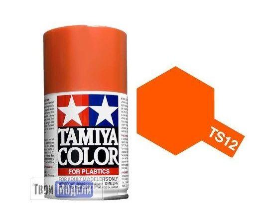 Необходимое для моделей Tamiya 85012 TS-12 Оранжевая аэрозоль - краска спрей в баллончиках 100 мл.  tm00688 купить в твоимодели.рф
