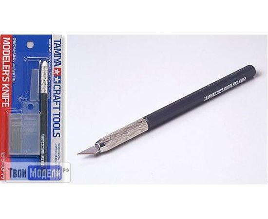 Оборудование для творчества Tamiya 74040 Дизайнерский нож с 25 доп.лезвиями tm00683 купить в твоимодели.рф