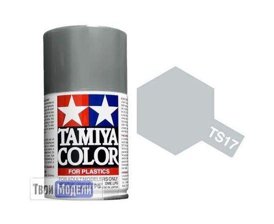Масштабные модели Tamiya 85017 TS-17 Алюминий Глянцевый металлик, - краска спрей в баллончиках 100 мл. tm00729 купить в твоимодели.рф