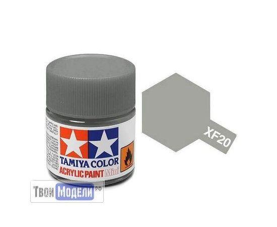 Необходимое для моделей Tamiya 81720 XF-20 Средне-Серый (Medium Grey) #Краска-acrylic tm00425 купить в твоимодели.рф