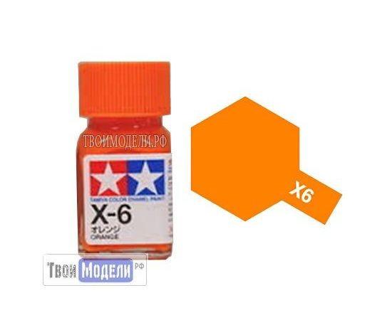 Необходимое для моделей Tamiya 80006 X-6 Оранжевая #Краска-эмаль tm00419 купить в твоимодели.рф