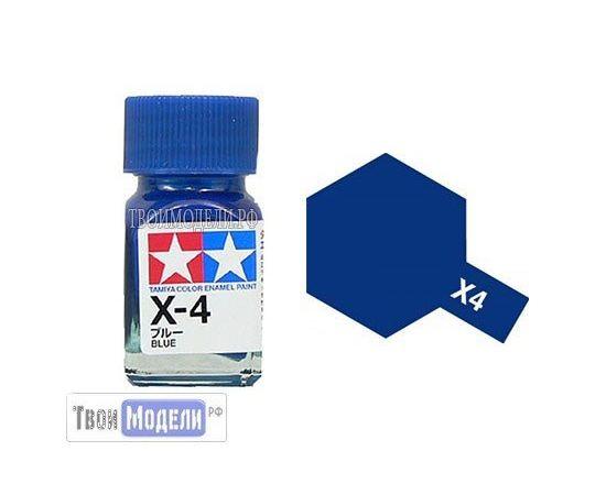 Необходимое для моделей Tamiya 80004 X-4 Синий #Краска-эмаль tm00515 купить в твоимодели.рф