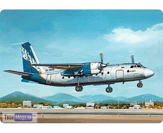 Склеиваемые модели  ЕЕ14462 Ан-24РВ Самолет Аэрофлот-Норд 1:144 tm00380 купить в твоимодели.рф
