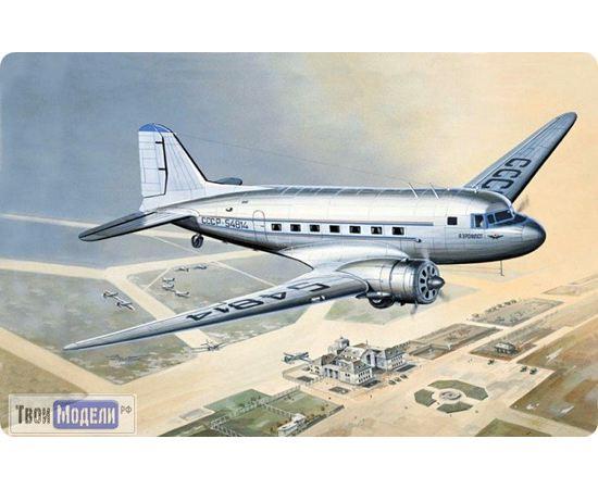 Склеиваемые модели  ЕЕ14431 ПС-84 (Douglas DC-3) Пассажирский самолет 1:144 tm00393 купить в твоимодели.рф
