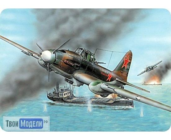 Склеиваемые модели  ЕЕ72215 Ил-2М Советский самолет Штурмовик  1:72 tm00404 купить в твоимодели.рф