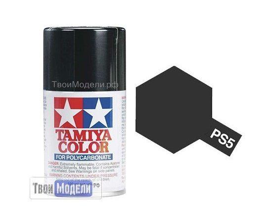 Необходимое для моделей Tamiya 86005 PS-5 Черная - краска спрей в баллончиках 100 мл.  tm00543 купить в твоимодели.рф