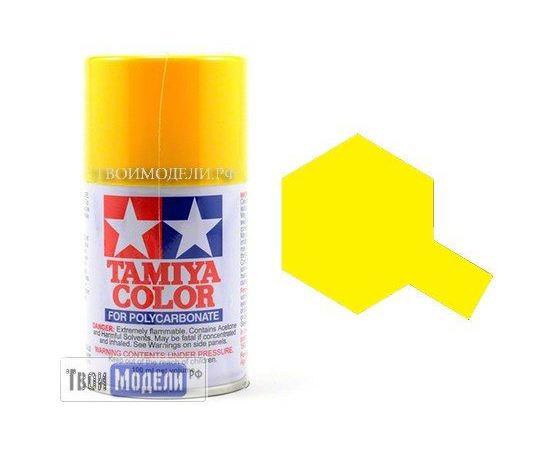 Необходимое для моделей Tamiya 86006 PS-6 Yellow Желтая - краска спрей в баллончиках 100 мл.  tm00551 купить в твоимодели.рф