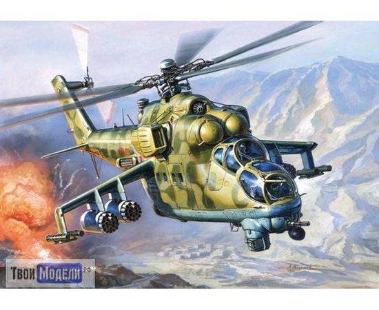 """Склеиваемые модели  Zvezda 7293 Звезда  Ми-24В/ВП Вертолёт """"Крокодил"""" tm00740 купить в твоимодели.рф"""