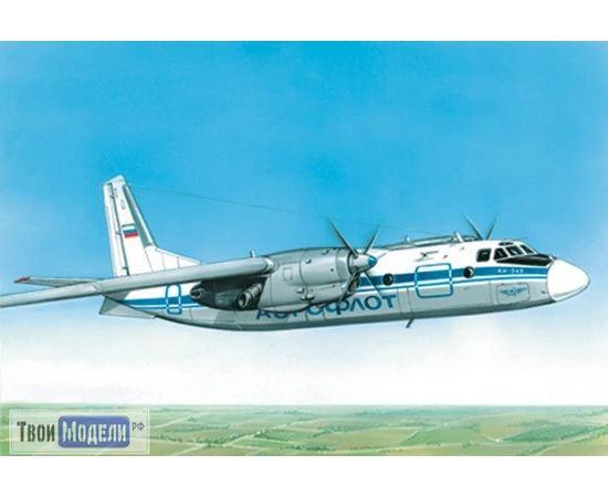 Склеиваемые модели  ЕЕ28801 АН-24 Пассажирский самолёт 1:1255 tm00383 купить в твоимодели.рф