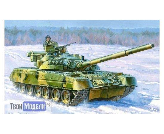 Склеиваемые модели  zvezda 3591 Звезда Т-80УД Основной боевой танк 1/35 tm00758 купить в твоимодели.рф
