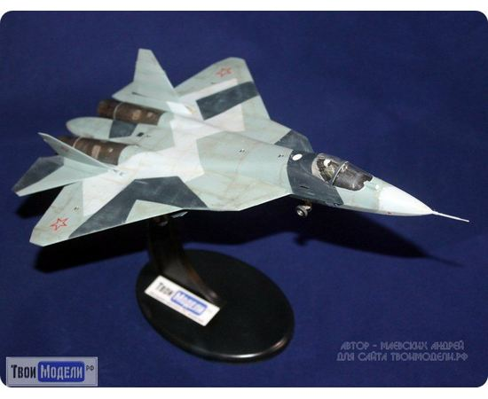Склеиваемые модели  zvezda 7275 Звезда Су-57 (Т-50) Истребитель 5-го поколения 1/72 tm00275 купить в твоимодели.рф