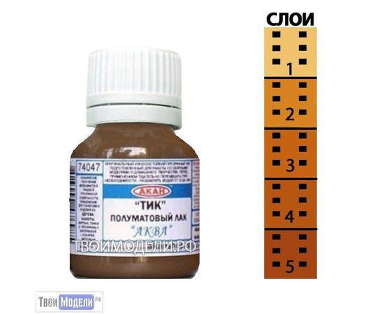 Необходимое для моделей АКАН 74047 Полуматовый лак Тик - Аква 15мл. tm00629 купить в твоимодели.рф