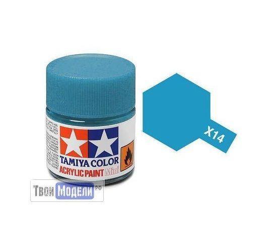 Необходимое для моделей Tamiya 81514 X-14 Лазурная глянцевая (Sky Blue) #Краска-acrylic tm00455 купить в твоимодели.рф