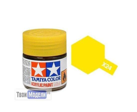 Необходимое для моделей Tamiya 81524 X-24 Желтая прозрачная (Clear Yellow) #Краска-acrylic tm00456 купить в твоимодели.рф
