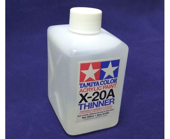 Масштабные модели Tamiya 81040 Х-20А 250мл. Растворитель для акрила tm00634 купить в твоимодели.рф