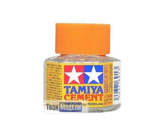 Необходимое для моделей Tamiya 87012 Клей с кисточкой (Cement), 20 мл tm00574 купить в твоимодели.рф