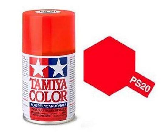 Необходимое для моделей Tamiya 86020 PS-20 Флуоресцентный красный - краска спрей в баллончиках 100 мл.  tm00763 купить в твоимодели.рф