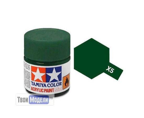 Необходимое для моделей Tamiya 81505 Х-5 Зеленая глянцевая (Green) #Краска-acrylic tm00448 купить в твоимодели.рф