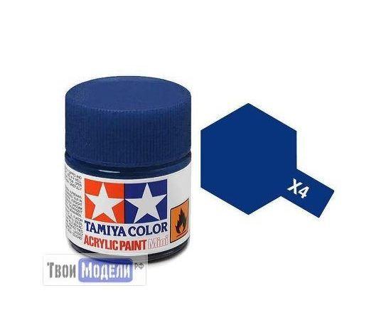 Необходимое для моделей Tamiya 81504 X-4 Синяя глянцевая (Blue) #Краска-acrylic tm00431 купить в твоимодели.рф