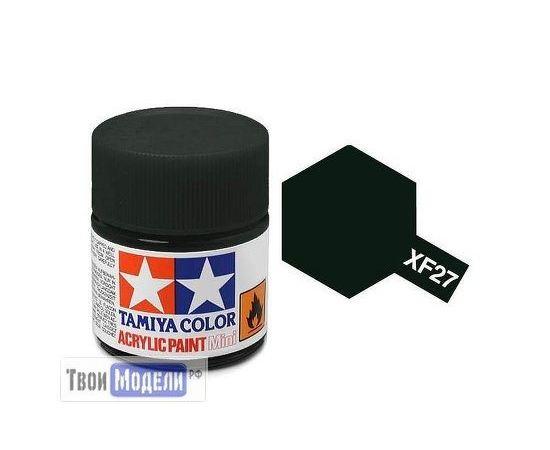 Необходимое для моделей Tamiya 81727 XF-27 Черно-зеленая (Black Green) #Краска-acrylic tm00412 купить в твоимодели.рф