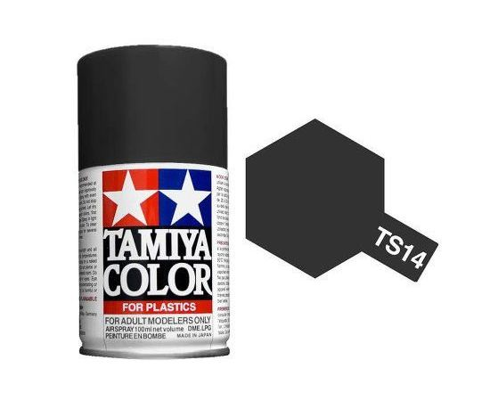 Необходимое для моделей Tamiya 85014 TS-14 Черная - краска спрей в баллончиках 100 мл.  tm00760 купить в твоимодели.рф