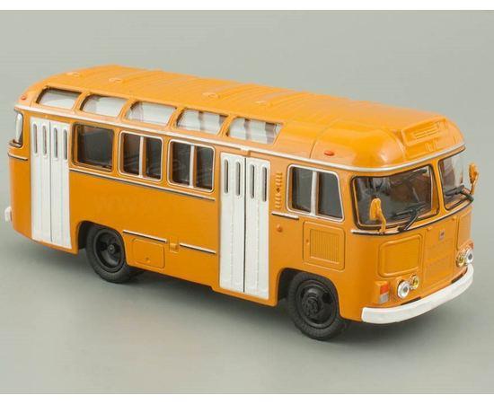 Коллекционные машинки Автобус ПАЗ-672М городской желто - белый 1:43 tm07795 купить в твоимодели.рф