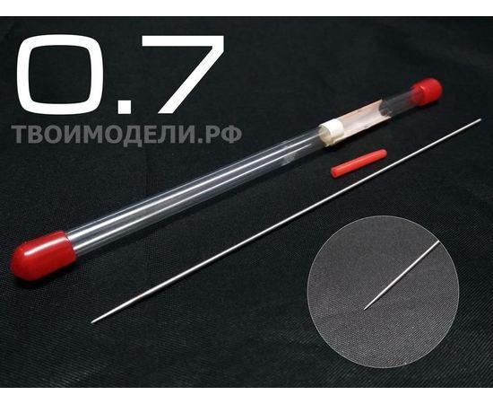 Аэрографы, компрессоры, ЗИП JAS 5116 Игла для аэрографа, длина 130 мм, 0,7 мм. tm07874 купить в твоимодели.рф