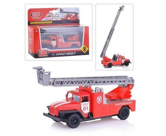 Коллекционные машинки Урал 5557 пожарная лестница модель Технопарк 1:43 tm09678 купить в твоимодели.рф