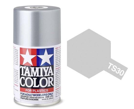 Масштабные модели Tamiya 85030 TS-30 Серебряная (Silver Leaf) Глянцевый металлик - краска спрей в баллончиках 100 мл. tm09725 купить в твоимодели.рф
