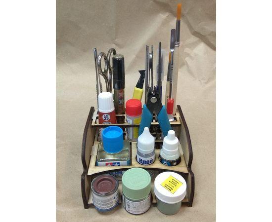Изделия из дерева (фанеры) Подставка для клея, краски и инструмента RSM-6P tm09870 купить в твоимодели.рф