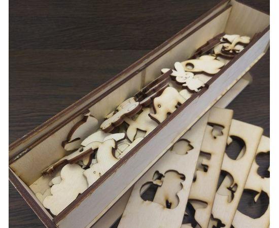 """Изделия из дерева МДФ Набор из 50 детских пазлов """"Животные"""" для творчества из дерева 3DLV-10188 tm10188 купить в твоимодели.рф"""
