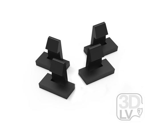Готовые напечатанные 3D модели Набор фиксаторов рамки центральной консоли Fiat Albea tm09675 купить в твоимодели.рф