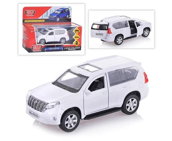 Масштабные модели Автомобиль TOYOTA PRADO Технопарк 1:36 (железная модель) tm09898 купить в твоимодели.рф