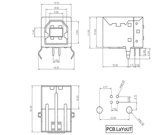 RC Гараж  USB B Тип гнездовой разъем G45 - мама tm-19-8458 купить в твоимодели.рф
