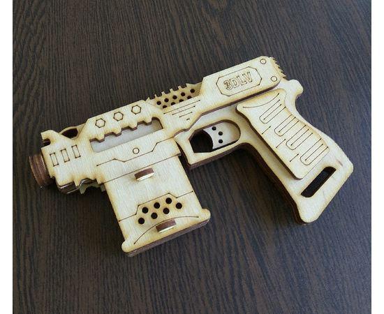 Изделия из дерева МДФ Резинкострел Бластер пистолет 10298 из дерева (3DLV-10298) tm10298 купить в твоимодели.рф