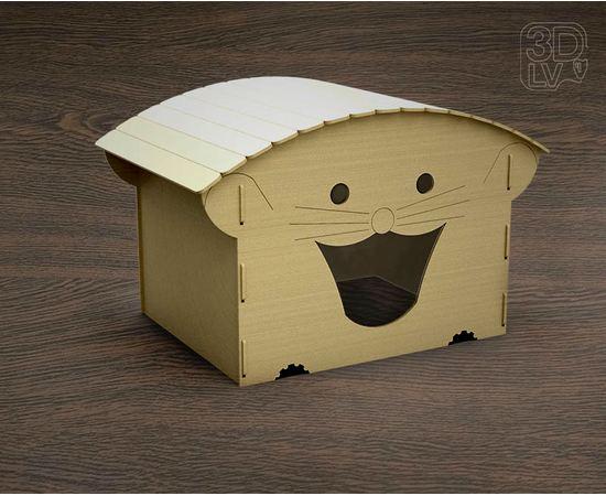 Изделия из дерева (фанеры) Домик для кошки в виде мышки из  дерева tm-19-8498 купить в твоимодели.рф