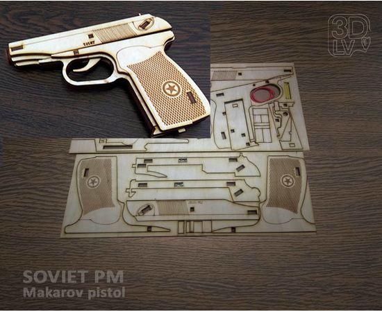 Изделия из дерева МДФ Пистолет Макарова ПМ Набор для сборки из дерева МДФ 1:1 tm10190-N купить в твоимодели.рф